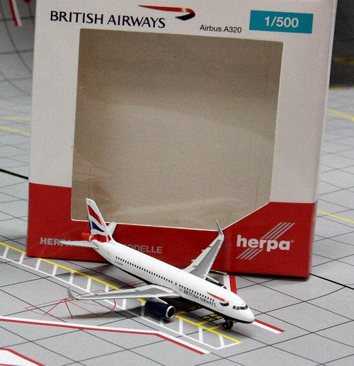 1:500 British Airways A320