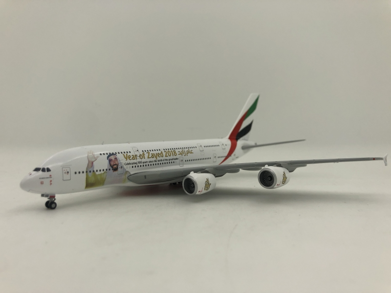 1:400 Emirates A380-800 (Year of Zayed 2018 Lively)