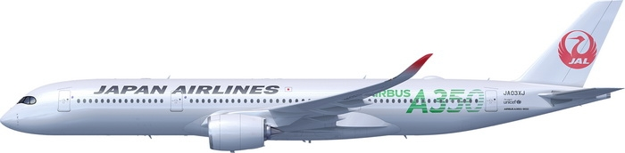 1:400 JAL A350-900 ( Green  ...