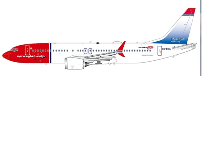 1:400 Norwegian airlines B7 ...
