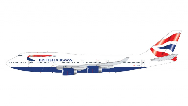 1:200 British Airways B747- ...