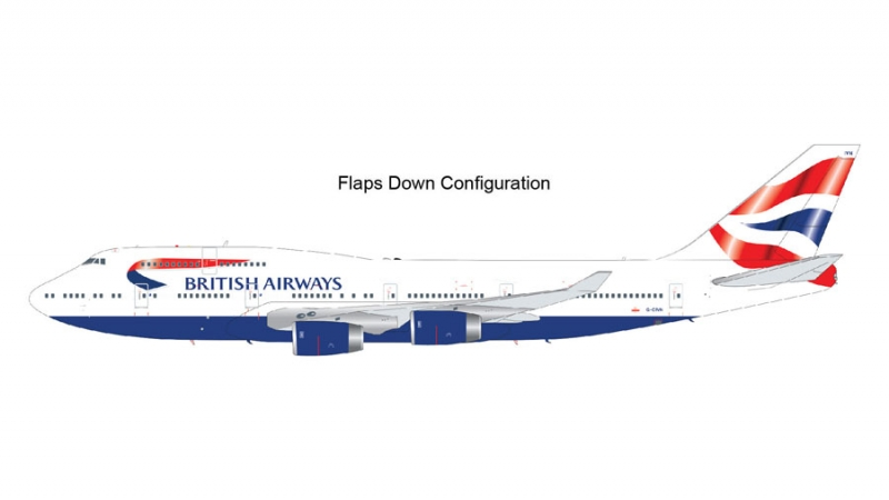 1:200 British Airways flaps ...