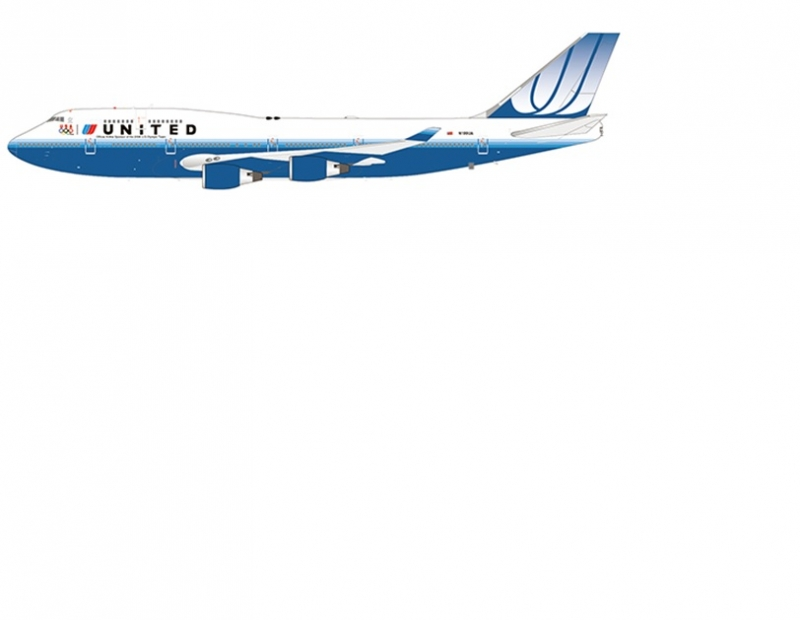1:200 United Airlines B747- ...