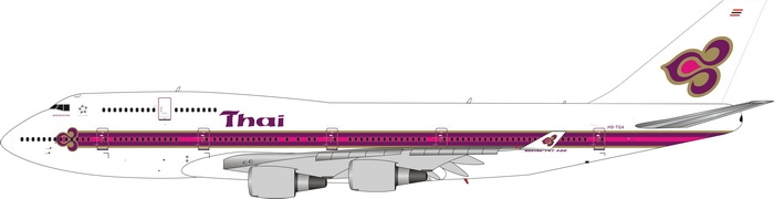 1:400 Thai Airways B747-400 ...