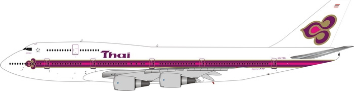 1:400 Thai Airways B747-200 ...
