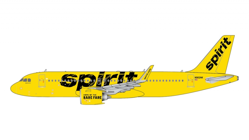 1:400 Spirit Airlines A320n ...