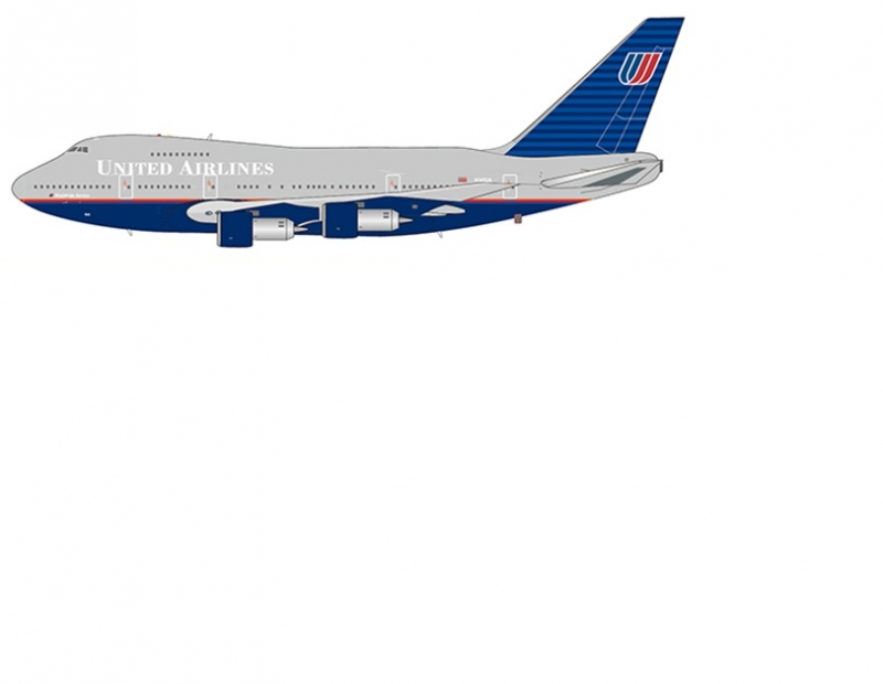 1:400 United Airlines B747S ...